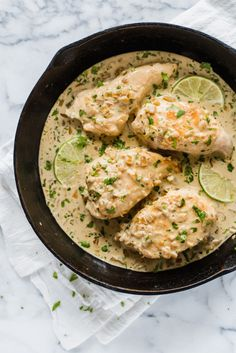 This Creamy Cilantro Lime Chicken is an easy low carb and gluten #hashtag