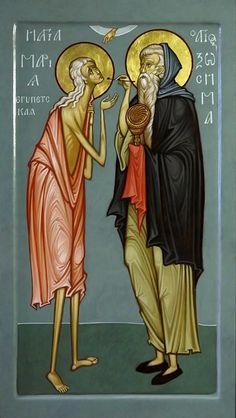 As if Through a Child's Inner Eye: The Contemporary Icons of Maxim Sheshukov – Orthodox Arts Journal Byzantine Icons, Byzantine Art, St Mary Of Egypt, Religion, Biblical Art, Greek Art, Religious Icons, Catholic Art, Art Icon