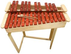 25-note marimba. One of my dream instruments. I'm thinking about trying to make something similar from PVC pipes to satisfy me until I'm rich enough to get something like this.