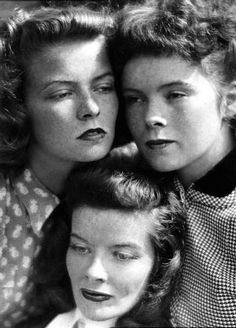 Katherine, Marion and Margaret Hepburn in Harper's Bazaar, 1939, by Martin Munkácsi.