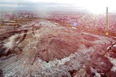 Nezahualcóyotl, Méx. 18 Julio 2013. En el año 2004 la antigua Ciudad Deportiva estaba compartida aún con una gran extensión del depósito de desperdicios Neza I.