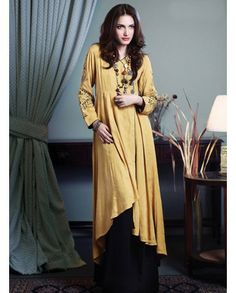 £48 Only. Pakistani Designer Dress with long tail. I LUV Designer - 3 Piece Zahra Ahmad's Semi Formal Stitched Linen Dress for £55 - Pakistani Dresses Latest Fashion