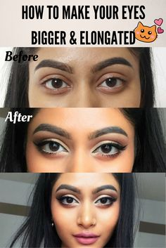 how to make your eyes look bigger and elongated