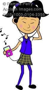 Clip Art of Teenagers | Party Girl Clipart Image - Ethnic Teen ...