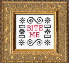 The cross stitch kits from subversive cross stitch just make me laugh