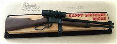 Henry Lever Rifle Cake