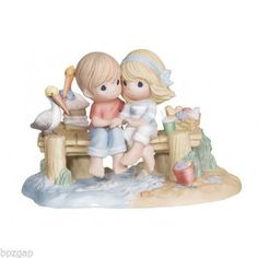 Precious Moments Couple on Dock Our Love Is A Shore Thing Figurine #132015