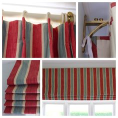 Choosing curtain styles and fabric for a teenage boy's bedroom can be traumatic! But here we combined a sharp inverted pleat headed curtain with a simple cascade-pleated Roman blind. The photo also shows how we returned the curtain sides to the wall and secured them with tape to the extended wall bracket.