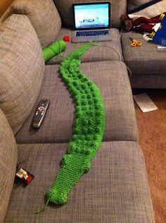 Children's  Al The Alligator Scarf. $18.00, via Etsy.