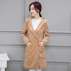 Women's Winter Jackets Coats Big Pocket Elegant Warm Woolen Outerwear 2016 Long Plus Size Women Coat Jacket Overcoat XL-5XL #Affiliate