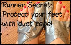 Runner secrets, runner tips, running tips: protect our feet with duct tape! I need to try this on my big toes!!