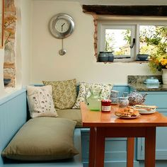 Cream and blue country kitchen | Kitchen decorating | housetohome.co.uk | Mobile