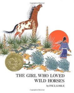 The Girl Who Loved Wild Horses by Paul Goble is a Picture book. It uses lots of line. It would be a good book to use when teaching similes. It is a Caldecott winner.