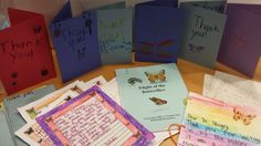 Thank you cards and letters from students in North Platte Nebraska who screened Flight of the Butterflies