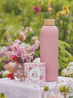 Warms your heart and cools your drinks: Our heavenly LOVE Steel Bottle made of double-walled  stainless steel keeps your waterdrops ice cold for up to 24h or warm for up to 12h. Old Flame, Water Drops, Pomegranate, Berries, Perfume Bottles, Love, Heavenly, Stainless Steel, Warm