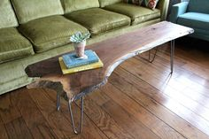 1 OF 3 AVAILABLE Live Edge Mahogany Coffee Table by HippieHouseCo