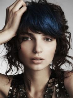 This dark blue looks great! Wouldn't work with my skin tone but I like it on her.