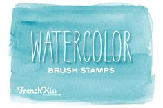 Watercolor Spots Brush Stamps ~~ 14 hi resolution brushes made from watercolors. Png files included. Great for labels, web graphics, scrapbooking, etc. Files are approximately 2500 pixels wide.