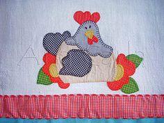 pano de prato galinha (Ana Carla_Fazendo Arte) Tags: flores frutas galinha cupcake patchwork cozinha