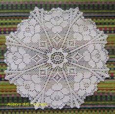 centro filet rose centro uncinetto/crochet cotone perlato n.8 fatto a mano uncinetto