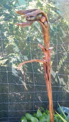 'Blowing In The Wind' $40 NZ Dollars. NZ driftwood with beach stone inset Beach Stones, Driftwood, Garden Art, Drift Wood, Yard Art