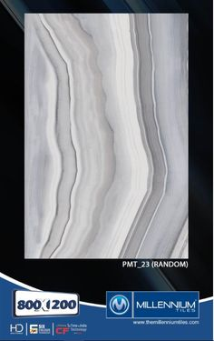 Millennium Tiles 800x1200mm (32x48) PGVT Porcelain Matt XXL Floor Tiles Series  - PMT_23