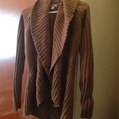 Dressbarn sweater jacket Dressbarn brown soft sweater worm a few times not my style Dress Barn Sweaters Shrugs & Ponchos