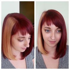 Fun and funky hair color by Brianne at Soiree Salon, Baltimore MD