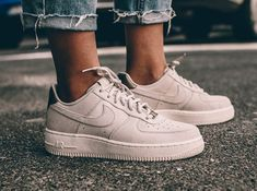 NIKE Women's Shoes - Nike Air Force 1 Low Suede PRM 'Gamma Grey Phantom' - Find deals and best selling products for Nike Shoes for Women Nike Free Shoes, Nike Shoes Outlet, Running Shoes Nike, Basket Nike Air, Baskets Nike, Cute Shoes, Me Too Shoes, Nike Wmns, Nike Shox