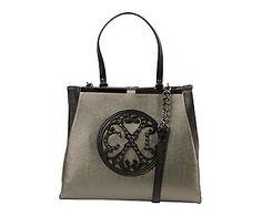 Bolso saca Royal, gris y negro - 41x18 cm