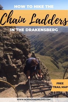 A comprehensive guide on how you can hike the Chain Ladders trail self-guided. We've included a free map as well as other top hiking trails in the Drakensberg, South Africa. Hiking Trail Maps, Hiking Trails, Kilimanjaro, Destin Beach, Best Hikes, Ladders, Africa Travel, Travel Couple, Places Around The World