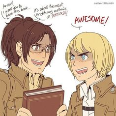 Armin and Hanji -- Attack on Titans