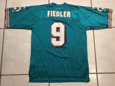 32229455f Rare Vintage REEBOK Miami Dolphins Jay Fieldler NFL Jersey Men s Medium