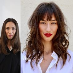Cut & Style / Modern Salon # shag # fringe # texture - New Site Medium Hair Styles, Natural Hair Styles, Short Hair Styles, Short Hair With Bangs, Short Hair Cuts, Pinterest Hair, Cut My Hair, Hair Transformation, Hair Today