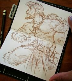 melmade the blog (the one I update ): One more sketch Wallet dook..
