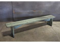 WOOD BENCH IN BLUE - 84""