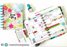 Check out all of the newest @meandmybigideas products in action today on their blog. (Link in profile.) I organized my May monthly calendar using all of the fun new floral prints & the new adorable stamps!  #thehappyplanner #happyplanner #planahappylife #thehappyplannerstamps #washi