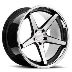 Ferrada - Machine Black w/ Chrome Lip - Wheel Warehouse Rims For Cars, Rims And Tires, Wheels And Tires, Car Wheels, Volkswagen Phaeton, Volkswagen Touran, Maruti Zen, Silverado Wheels, Black Chrome Wheels