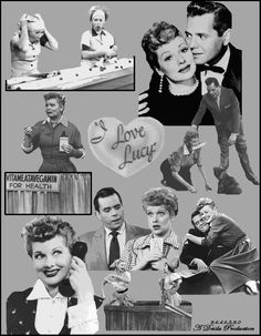 A Lucy collection I Love Lucy Show, Love Is All, Lucille Ball, 60 Year Anniversary, Lucy And Ricky, Family World, Thomas Doherty, Collage Drawing, Mary Tyler Moore