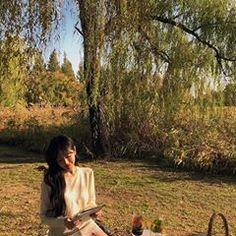 A imagem pode conter: 1 pessoa, sentado, árvore, ar livre e natureza