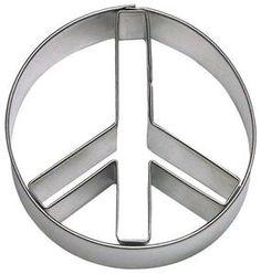 """Ausstecher/Ausstechform """"Zeichen/PEACE"""" - Peacezeichen, Frieden"""
