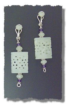 New Jade Earrings by Mary Hicklin (Virgo Moon).