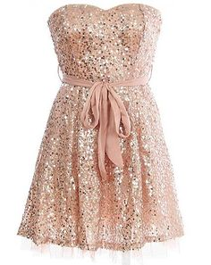 sparkly pink dress