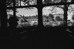 A view from a tram to Hietalahti Market Place, 1970.