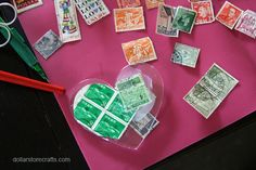 Thinking of using old Christmas stamps to make these. Old Christmas, Christmas Crafts, Christmas Ornaments, Christmas Ideas, Fun Crafts, Diy And Crafts, Crafts For Kids, Home Made Modge Podge, Old Stamps
