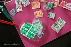 Mod Podge old stamps - cool