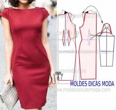All Things Sewing and Pattern Making Fashion Sewing, Diy Fashion, Ideias Fashion, Fashion Dresses, Fashion Details, Diy Clothing, Sewing Clothes, Dress Sewing Patterns, Clothing Patterns