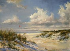 Kite Lessons by Paula B. Holtzclaw Oil ~ 9 x 12