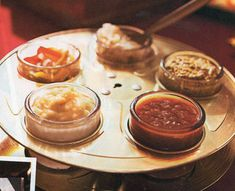 Reel & ramikins for dipping... Clever!