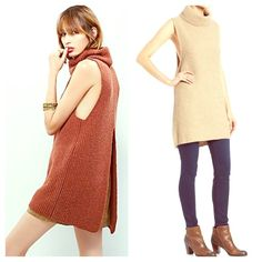FREE PEOPLE Sleeveless Turtleneck NWT NWT AND SOLD OUT EVERYWHERE! Cozy and fabulous! Color is Oatmeal.  Free People Sweaters